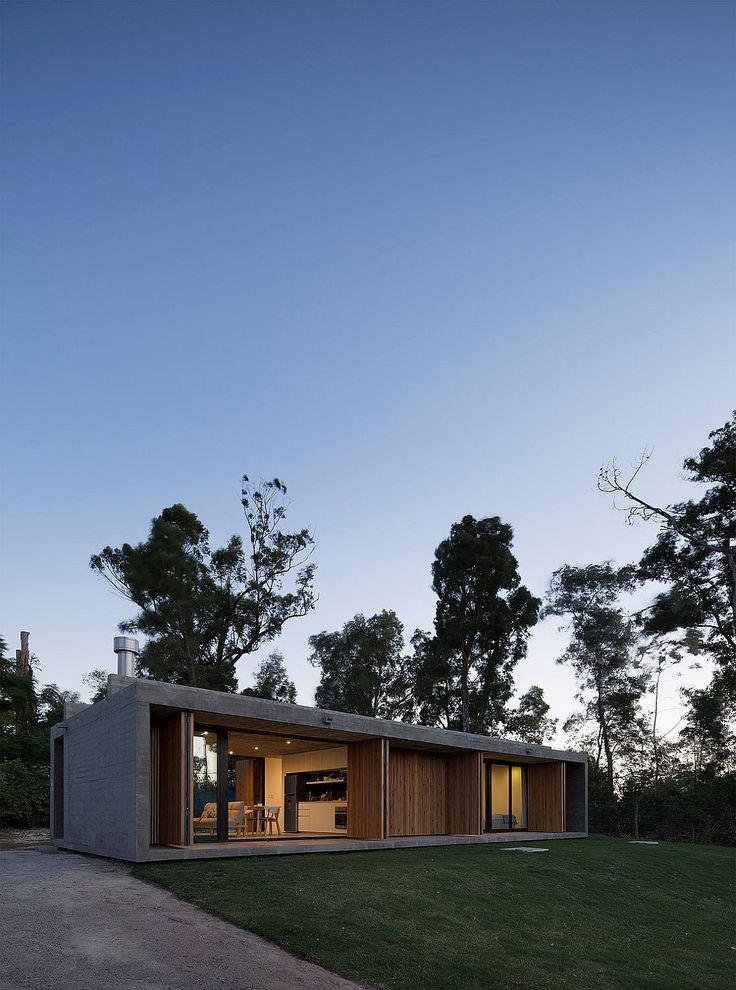A balance between complete privacy and an open ambiance that connects the home with the outdoors, Marindia House in Montevideo, Uruguay presents two comple