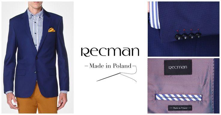 Klasyczna marynarka w granatowym kolorze jest niezastąpionym elementem garderoby eleganckiego mężczyzny. Model Essington marki #Recman przełamany oryginalnymi detalami to bardzo dobry wybór tegorocznej jesieni.  Sprawdź więcej: http://bit.ly/Recman_EssingtonG