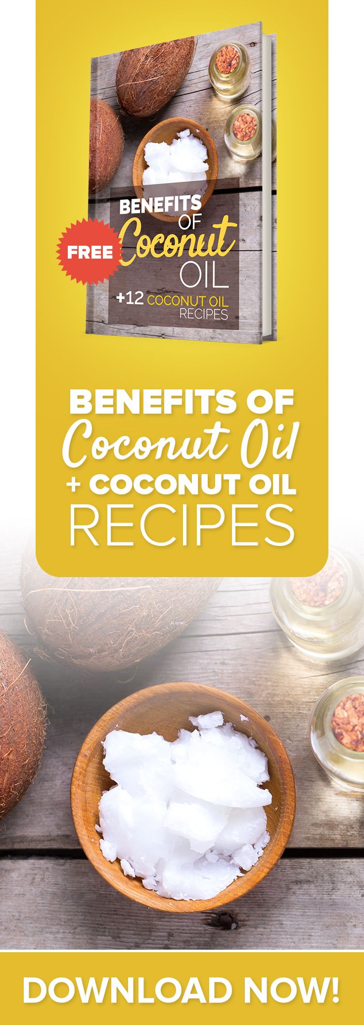 The Benefits of Coconut Oil & Recipes is a FREE eBook. Inside of Coconut Oil Benefits, you'll discover:  - Health Benefits of Coconut Oil - 30 Uses For Coconut - 12 Delicious Coconut Oil Recipes - And much much more!  Download the eBook here: http://blog.paleohacks.com/cotypg/