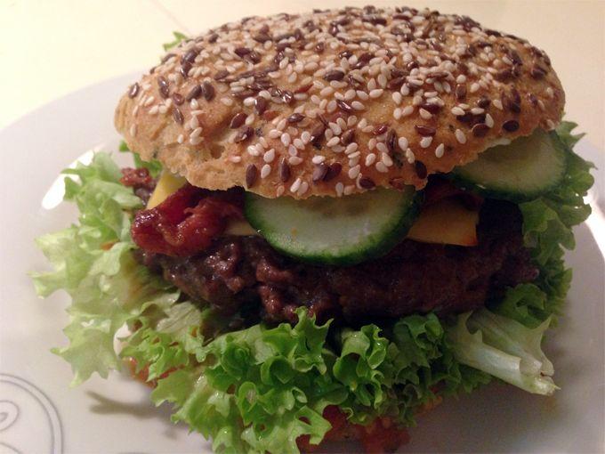 Burger med tomatrelish (FODMAP venlig)