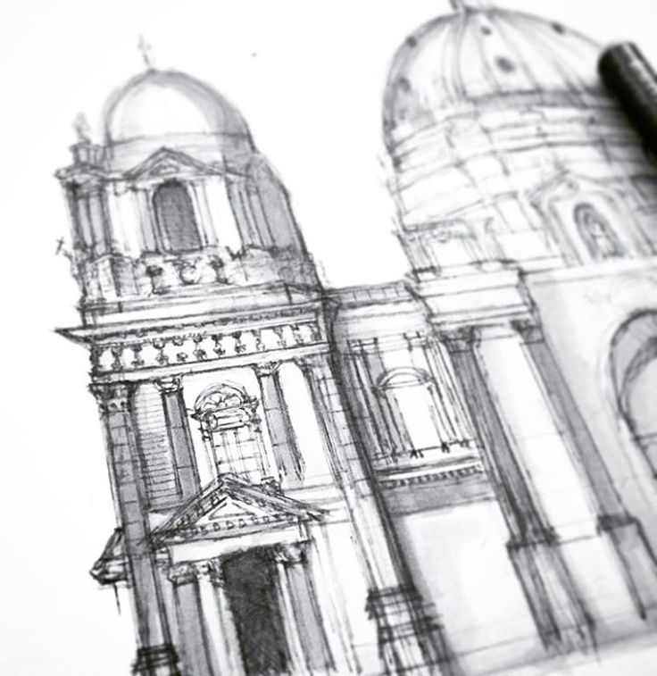 Adding details with 0.05 light gray Copic fineliner #arcitecture #architectureporn #pencil #pen #marker #design #art #artsy #artist #sketch #sketching #draw #drawing #painter