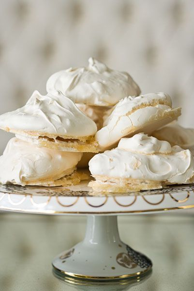 toasted coconut meringues are light and crispy, with some slight chewiness in the center and lots of sweet flavor