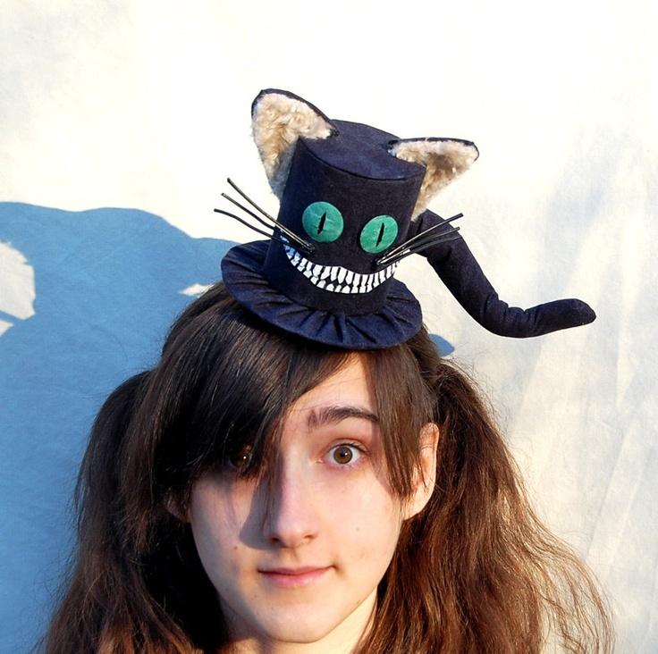 Cheshire Cat Mini Top Hat Goth Fascinator Cosplay Mad Hatter Wonderland Ebay