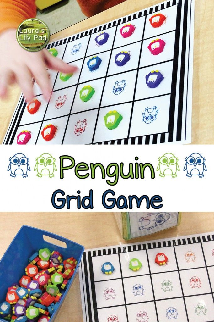 Penguin Math Games in PreK in 2020 (With images) Penguin