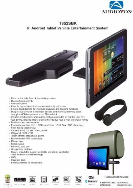 "8"" AndroidTablet Vehicle Entertainment System. Only R2499.00 Incl. Fully…"