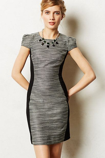 Grey and black shimmered hourglass sheath from Anthropologie - I need this!!!