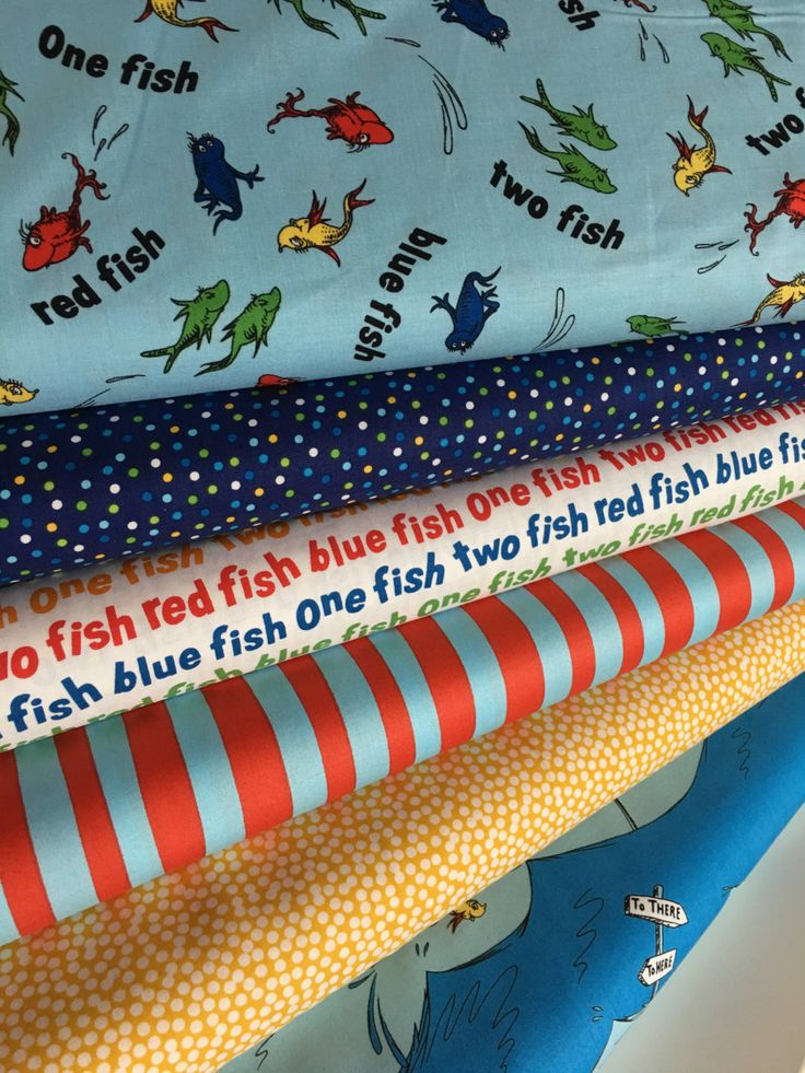 Dr Seuss fabric bundle of 6, Gift for Teacher, Book lover, Classroom Decor, Seuss Party, Busy Book, Dr Seuss Decorations, Choose your cut by FabricShoppe on Etsy