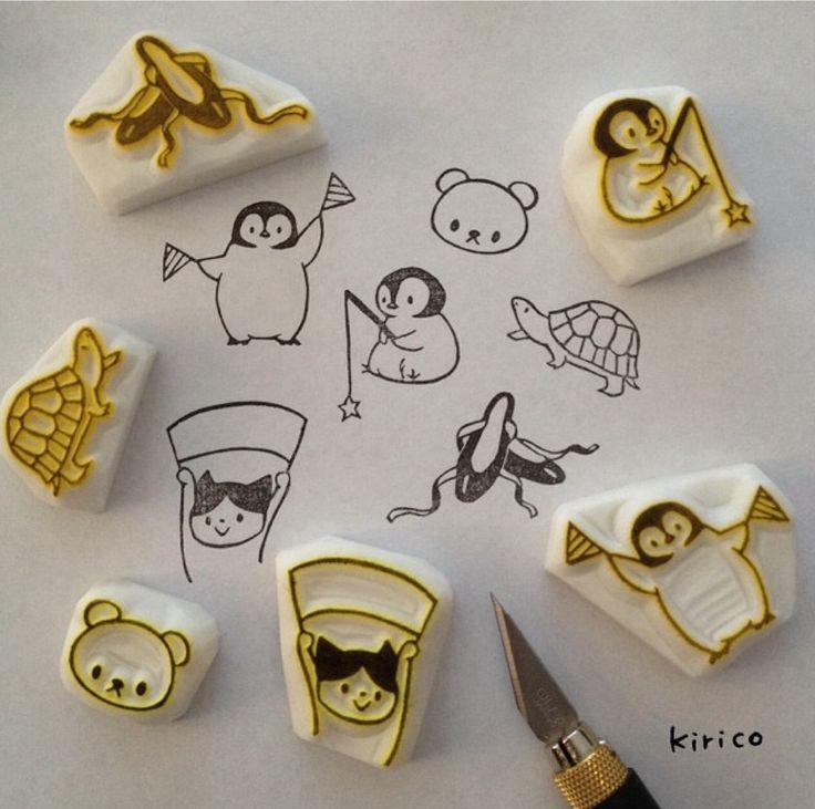 #RubberStamp via : Instagram @kiringostamp  -- [for more rubber stamp ideas…