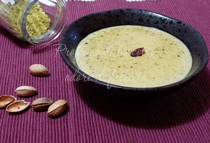 besciamella al pistacchio