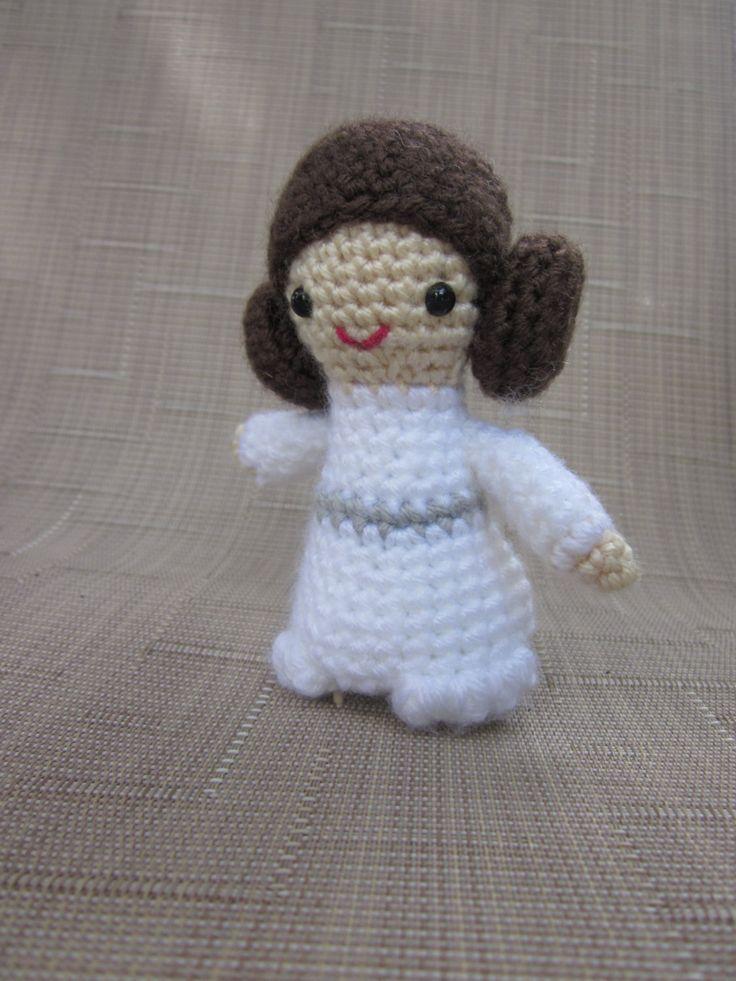 Princess Leia Crochet Doll - Star Wars Amigurumi - Photo Prop - Crochet Princess Leia - Plush Toy - Crochet Figure - Princess crochet Doll