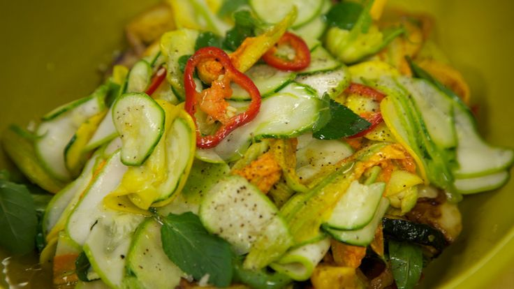 Chef Sisha Ortuzar's Summer Squash Salad | recipes | Pinterest