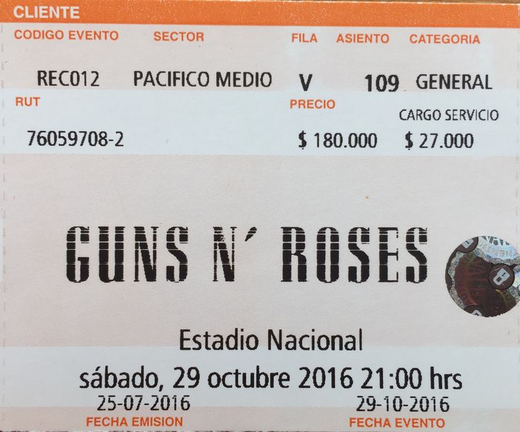 Guns N' Roses - Live in Santiago, Chile 29-10-2016