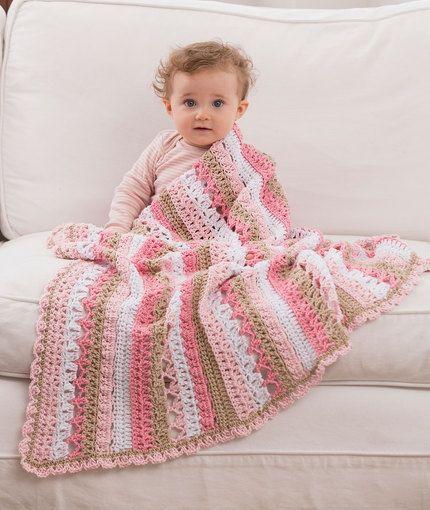 Be My Baby Blanket Free Crochet Pattern in Red Heart Yarns