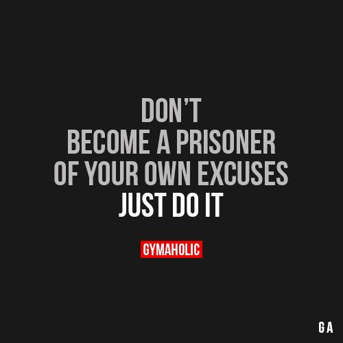 Don't Become A Prisoner #fitness #inspiration #motivation #fitspiration #health