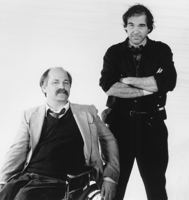 Still Of Oliver Stone And Ron Kovic In Born On The Fourth July