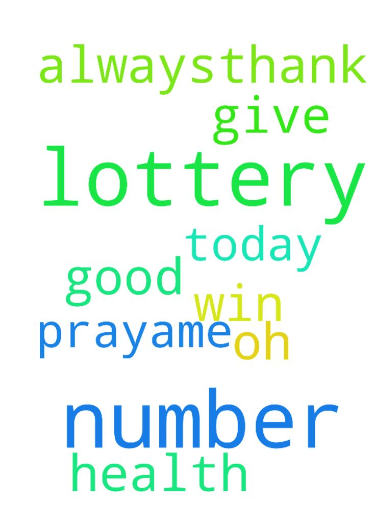 lord Jesus, I pray to you that my lottery number will - lord Jesus, I pray to you that my lottery number will win today. Give us oh lord a good health always,thank you. In Jesus Christ we pray,ame Posted at: https://prayerrequest.com/t/BoI #pray #prayer #request #prayerrequest