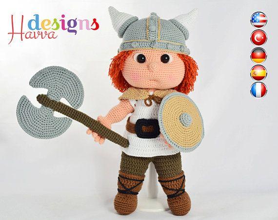 Patroon  Tommy met Viking kostuum van HavvaDesigns op Etsy