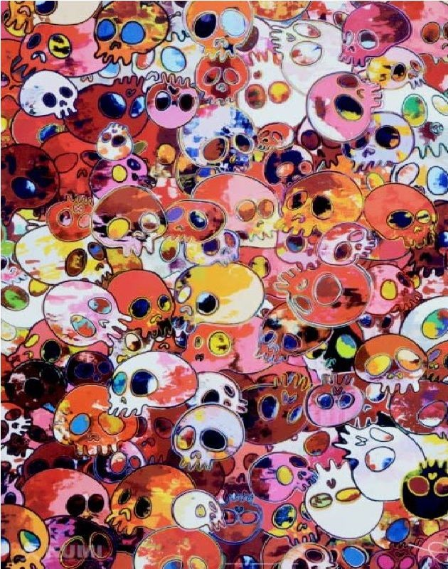 Takashi Murakami Prints for sale - MCRST,1962-2011  https://www.artetrama.com/en/artworks/takashi-murakami-mcrst-1962-2011  #murakami #takashimurakami #pop #skulls #print #superflat