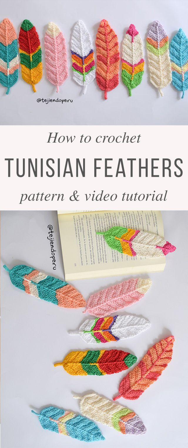 Tunisian Feathers Crochet Pattern Tutorial