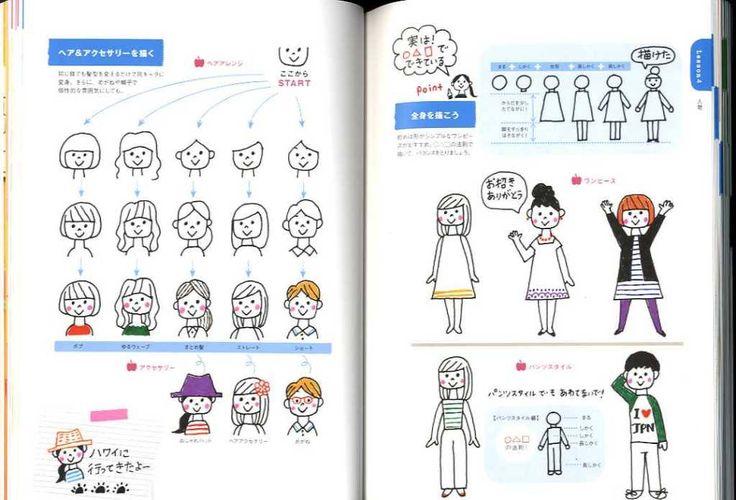 I love Ballpoint Pen Easy Illustration Book - Japanese Book. $20,00, via Etsy.