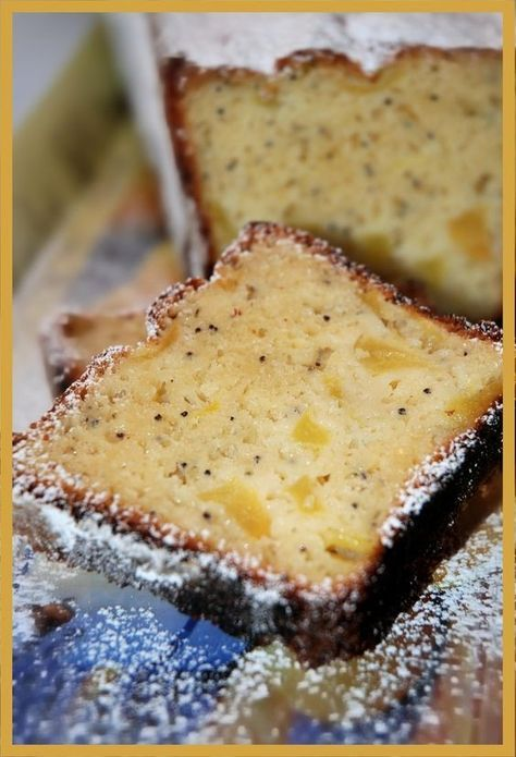 Gâteau citron pomme et pavot