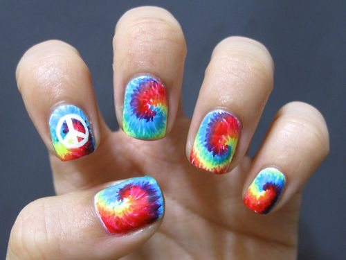 casebykasenails:  Tiedye nails! <3~ Tutorial coming soon.