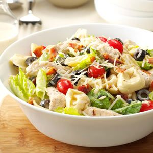 Tortellini & Chicken Caesar Salad Recipe from Taste of Home -- shared by Lee Reese of Rolla, Missouri