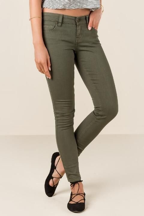 Eunina Olive Skinny Jeans