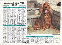 CALENDRIER - ALMANACH DES POSTES ET DES TELEGRAPHES - ANNEE 1978 - Département de SEINE ET MARNE  | En vente sur Delcampe