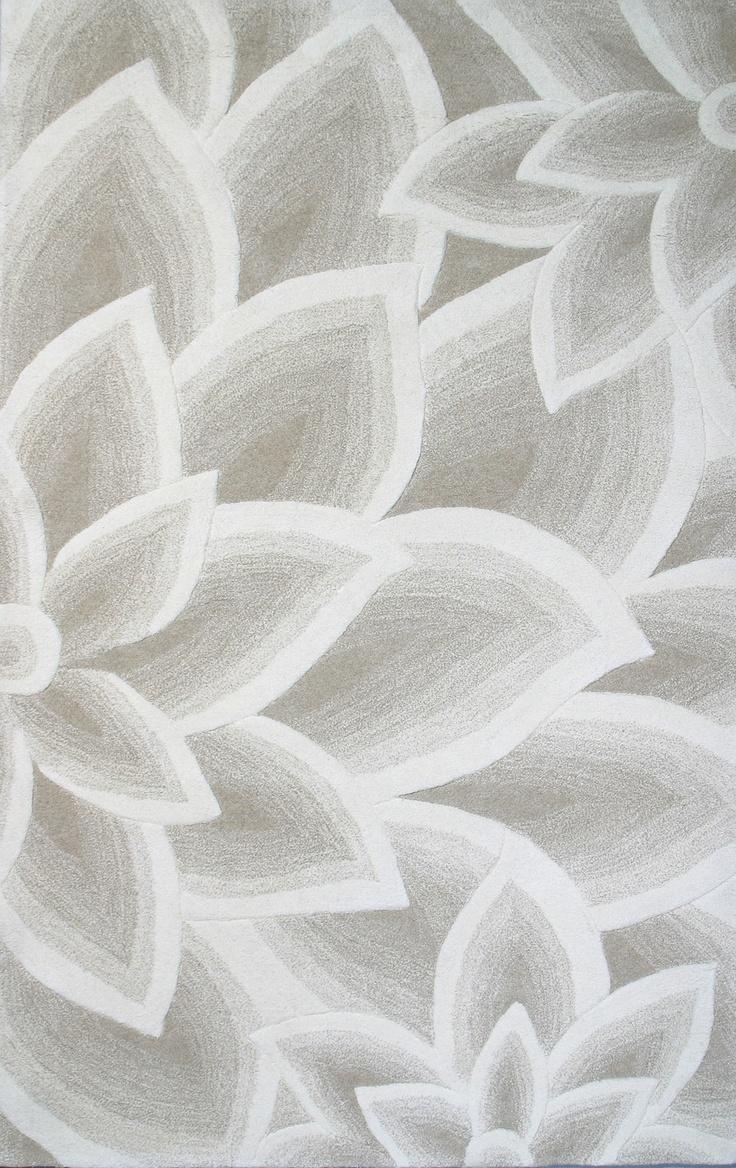 Grey Flower Rug