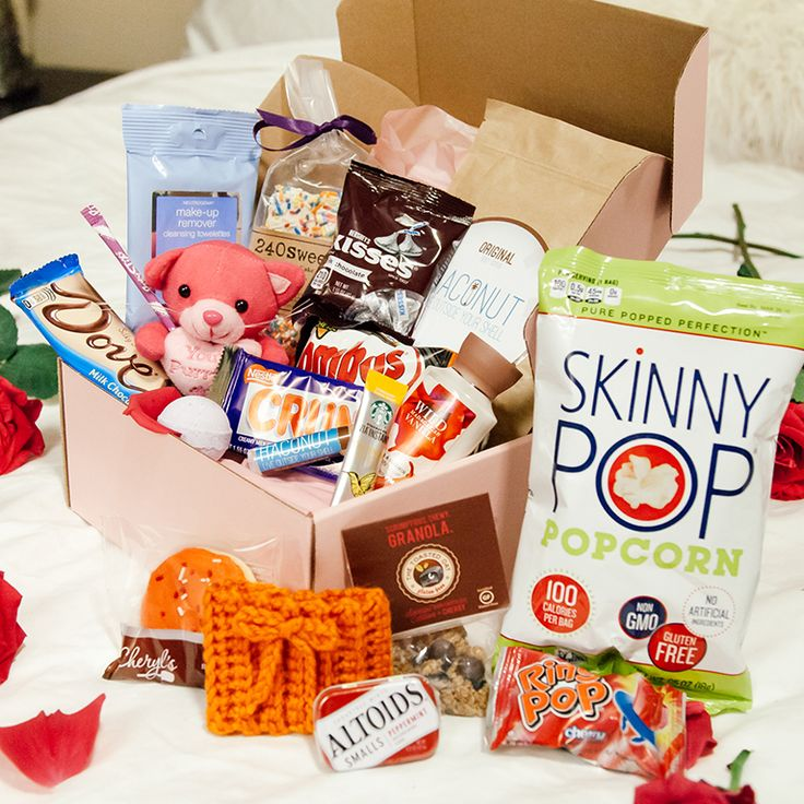 The PMS package full of sweets, comfort items and fun things all for your period. I WANT