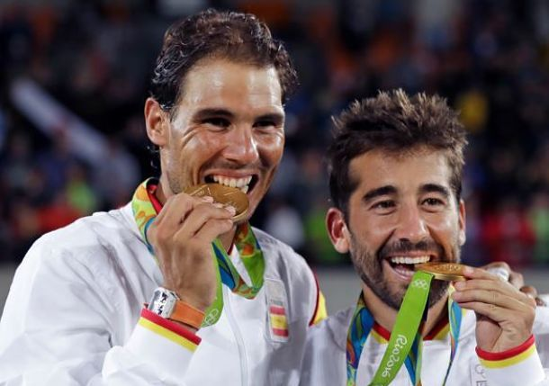 We watched this nerve-racking match, and then leaped into the air when Nadal and Lopez won!  Nadal and Lopez Strike Gold in Rio