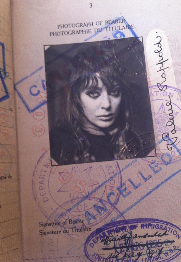 Vali i miss u  (alias Valerie Rappold) 1950s passport (Courtesy of Vali Myers Art Gallery Trust)