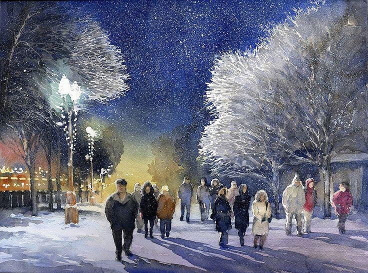 Тупоршин Владимир Николаевич. Акварели и рисунки.