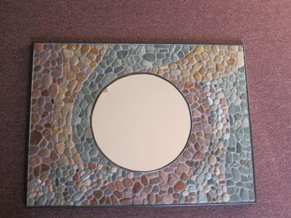 Mosaic Mirror flat smooth stones MO004