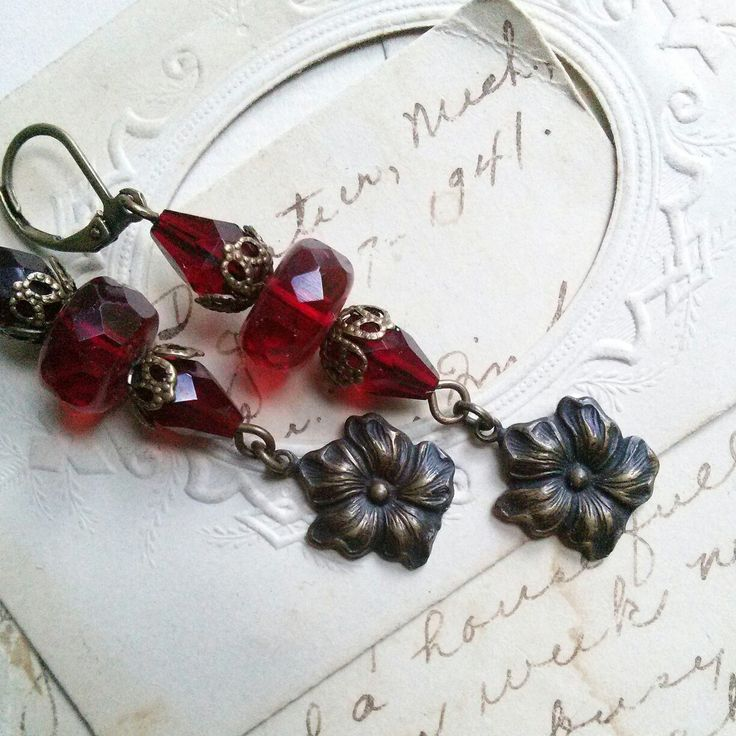 Antique assemblage earrings by Sacred Cake