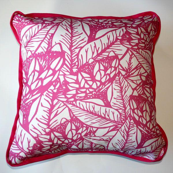 Cushion Protea Bush Pink - Katz Designer Textiles