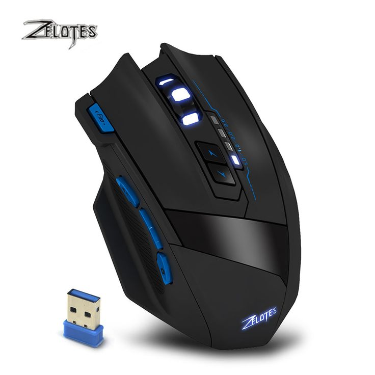 Newest Zelotes F15 Dual Mode Gaming Mouse Wired + 2.4G Wireless 2500 DPI 9 Buttons USB Computer Mouse Mice for PC Laptop Gamer