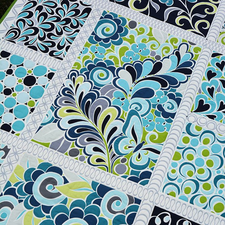 Quilting BERNINA-Style: Free Motion by Amanda Murphy.  This panel will be available exclusively at your local U.S. BERNINA dealer in October!  http://blog.amandamurphydesign.com/quilting-bernina-style-free-motion-panel/