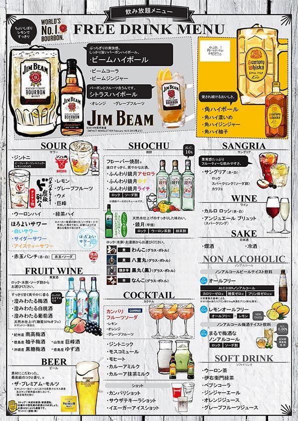 飲み放題メニュー 無料作成サービス | サントリー ご繁盛店サポートサイト
