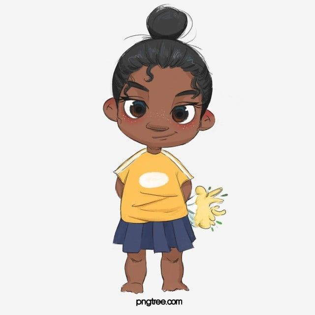 Black Cartoon Children Cute Hand Drawn Illustration Watercolor Elements Black Children Illustration Png Transparent Clipart Image And Psd File For Free Downl Black Cartoon Drawing Illustration Character Illustration