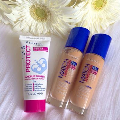 Fabulous and Fun Life: Rimmel Match Perfection Foundation and Fix & Protect Primer Reviews
