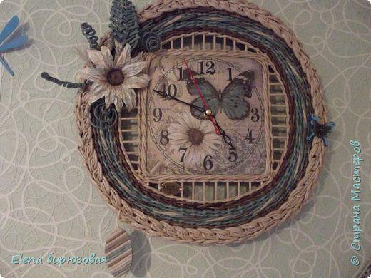 Декор предметов Интерьер Плетение Тик-так часики   Бумага газетная Трубочки бумажные фото 36