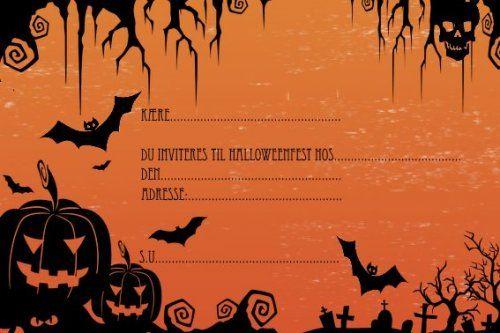 halloweenfest indbydelse skabelon