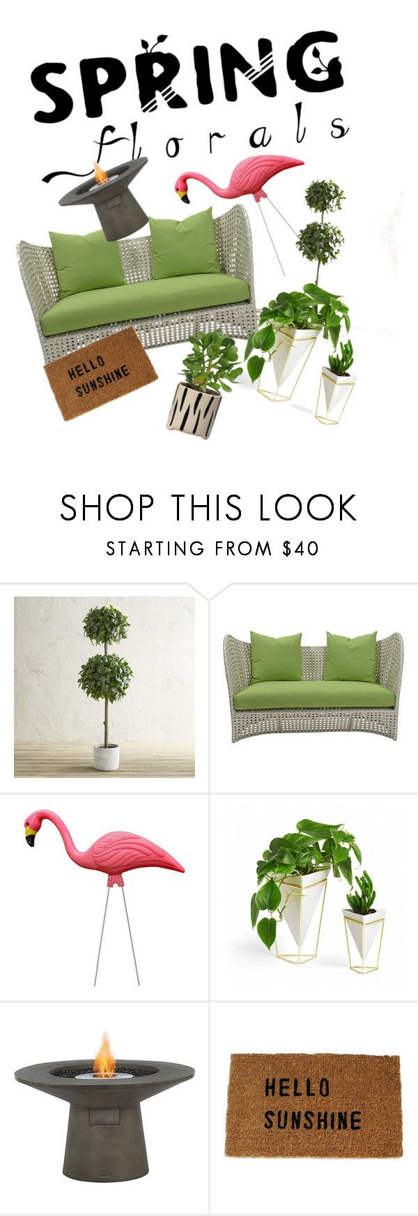"""""""Hello Sunshine"""" by fashionista-girlie-of-arts ❤ liked on Polyvore featuring interior, interiors, interior design, home, home decor, interior decorating, Pier 1 Imports, David Francis Furniture, Umbra and springflorals"""