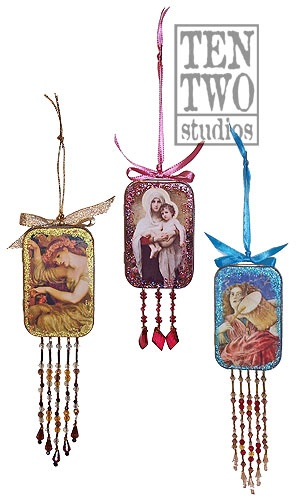 This altoid tin was made into an ornament..but I can see it being used as a repurposed windchime or a sachet holder for your drawer or closet.