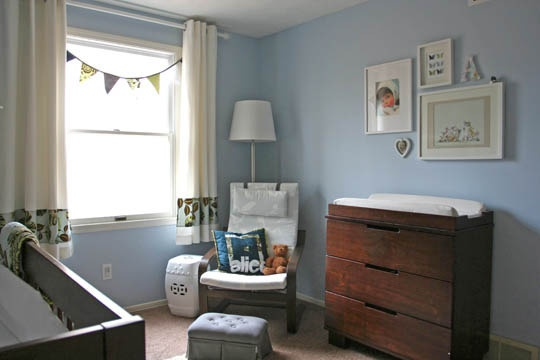 Like the no-pink but still girly nursery, and the ikea rocker