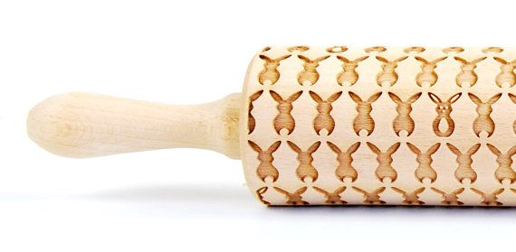 Happy Easter 4 - Embossing Rolling pin, engraved rolling pin