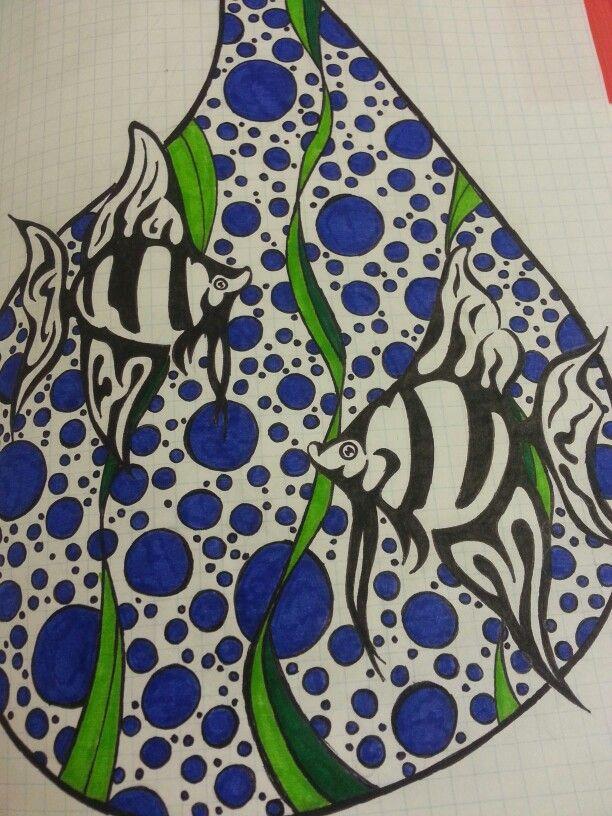 Fish in af drop
