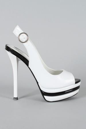 Zapato blanco y negro Diva zapatos#Repin By:Pinterest++ for iPad#